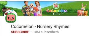 Cocomelon, top 10 YouTube channel, most subscribed youtube channel