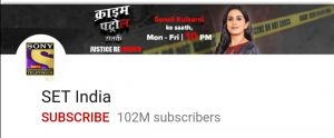 Set india, top 10 YouTube channel