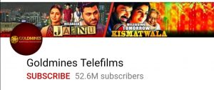Top 10 YouTube channel, top 10 Indian youtube channel, gold.mines telifilms