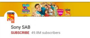 Top 10 YouTube channel, top 10 Indian youtube channel, Sony sab